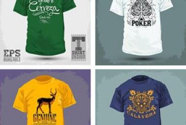 دانلود وکتور طرح های تی شرت T-Shirt Design
