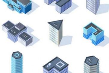 دانلود وکتور ساختمان های سه بعدی