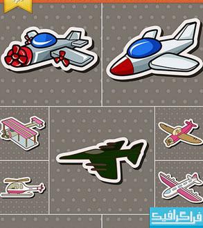دانلود وکتور های هواپیما - طرح کارتونی