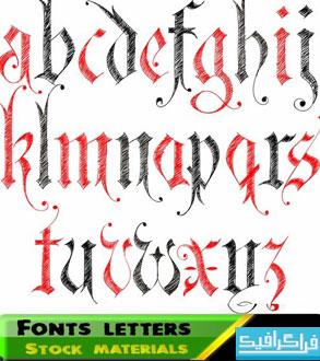دانلود وکتور های حروف انگلیسی - شماره 2