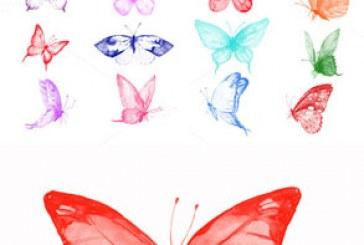 دانلود براش های فتوشاپ پروانه – طرح آبرنگ
