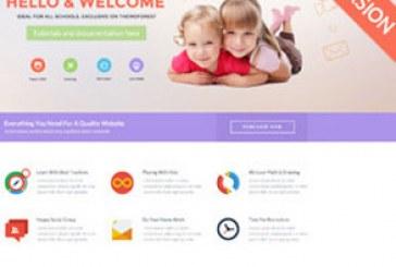 قالب سایت HTML مهد کودک و مدرسه Child Dooris