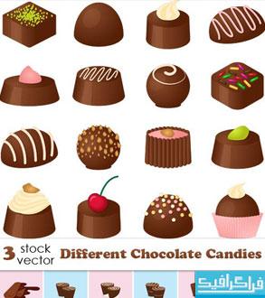 دانلود وکتور های شیرینی شکلاتی