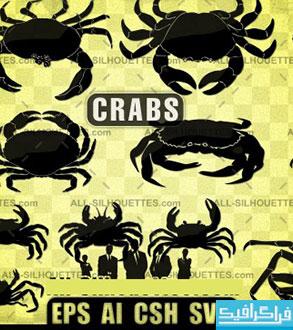 دانلود وکتور های خرچنگ - Crab Vectors