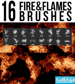 براش های فتوشاپ آتش و شعله - شماره 2