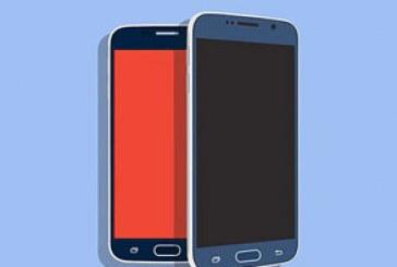 ماک آپ گوشی سامسونگ Galaxy S6 – طرح تخت