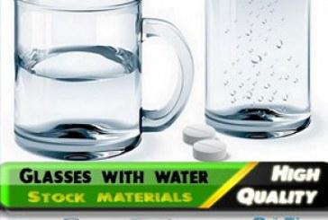 دانلود وکتور های لیوان با آب – Glasses with Water