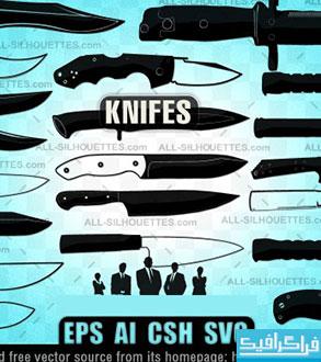 دانلود وکتور های چاقو Knife Vector
