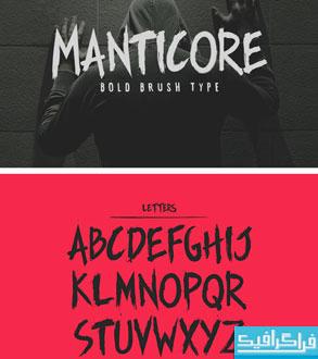 دانلود فونت انگلیسی ضخیم Manticore
