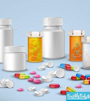 دانلود وکتور های دارو - قرص و کپسول - شماره 2