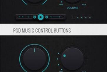 فایل لایه باز کنترل های پخش کننده موزیک