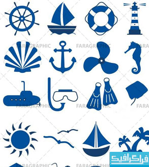 دانلود آیکون های دریانوردی - Nautical Icons