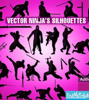 دانلود وکتور های نینجا - Ninja Vectors