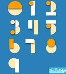 فایل لایه باز اعداد انگلیسی - طرح کاغذی