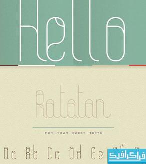 دانلود فونت انگلیسی گرافیکی Ratatan