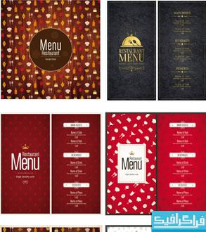 دانلود وکتور طرح های منوی رستوران