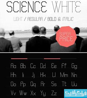 دانلود فونت انگلیسی گرافیکی Science White