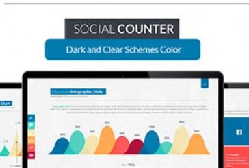 دانلود قالب پاورپوینت شرکتی Social Counter