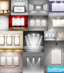 دانلود وکتور اتاق های نمایش با نور