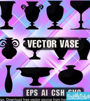 دانلود وکتور های گلدان - Vase Vectors