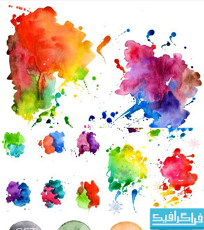 دانلود وکتور لکه های آبرنگ - Watercolor Blot