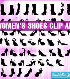 دانلود وکتور های کفش زنانه - Women Shoes