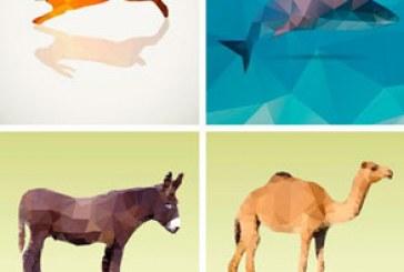 دانلود وکتور حیوانات – طرح چند ضلعی Low Poly