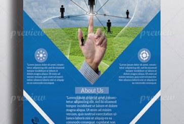دانلود فایل لایه باز پوستر شبکه تجاری