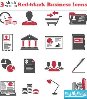 دانلود آیکون های تجاری - قرمز و سیاه