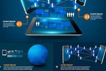 وکتور طرح های مفهومی تکنولوژی اینترنت
