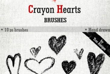 براش های فتوشاپ قلب – طرح مداد شمعی