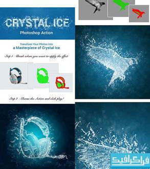 دانلود اکشن فتوشاپ ساخت افکت یخ Crystal Ice