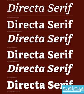 دانلود مجموعه فونت های انگلیسی Directa Serif