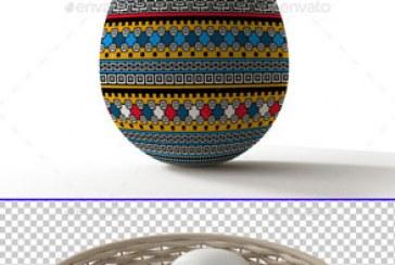دانلود ماک آپ فتوشاپ تخم مرغ رنگی