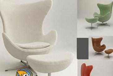دانلود مدل سه بعدی صندلی تخم مرغی
