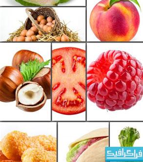 دانلود تصاویر استوک مواد غذایی مختلف