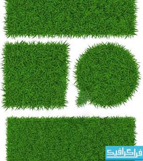 دانلود وکتور پترن های چمن - Grass Pattern