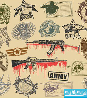 دانلود وکتور طرح های نظامی - Military Designs