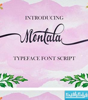 دانلود فونت انگلیسی دستخط Montala