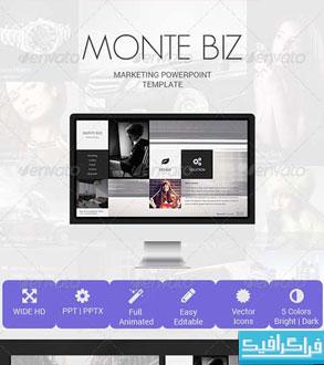 دانلود قالب پاورپوینت بازاریابی Monte Biz