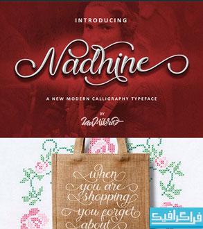 دانلود فونت دستخط انگلیسی Nadhine