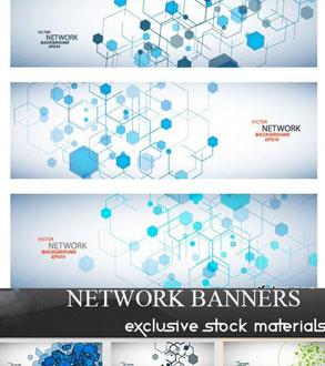 دانلود وکتور بنر های شبکه - Network Banners
