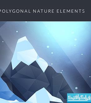 دانلود وکتور طرح های چند ضلعی Polygonal