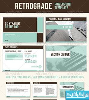 دانلود قالب پاورپوینت شرکتی و تجاری Retrograde
