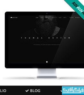 قالب سایت HTML تک صفحه ای چند منظوره Rhythm