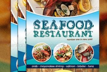 فایل لایه باز پوستر منوی غذای دریایی