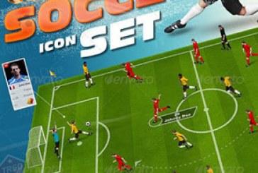 فایل لایه باز مجموعه عناصر طراحی فوتبال