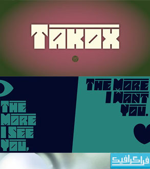 دانلود فونت انگلیسی گرافیکی Takox