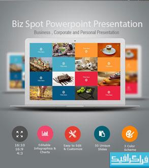 دانلود قالب پاورپوینت شرکتی-تجاری Biz-Spot