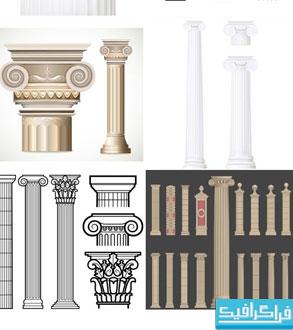 دانلود وکتور های ستون - طرح کلاسیک